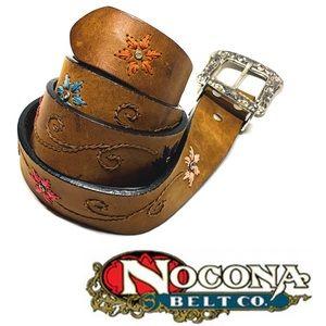 Nocona Belt Co. Women's Floral Embossed Belt sz M